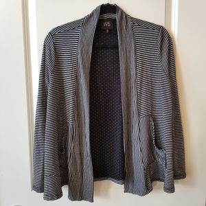 W5 | Anthropologie Black & White Stripe Cardigan